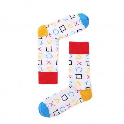 Ponožky Love and Fun vysoké TIC TAC TOE
