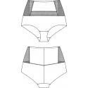 Vysoké kalhotky 121801
