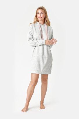 Mikinové šaty Alma s kapucňou 621534
