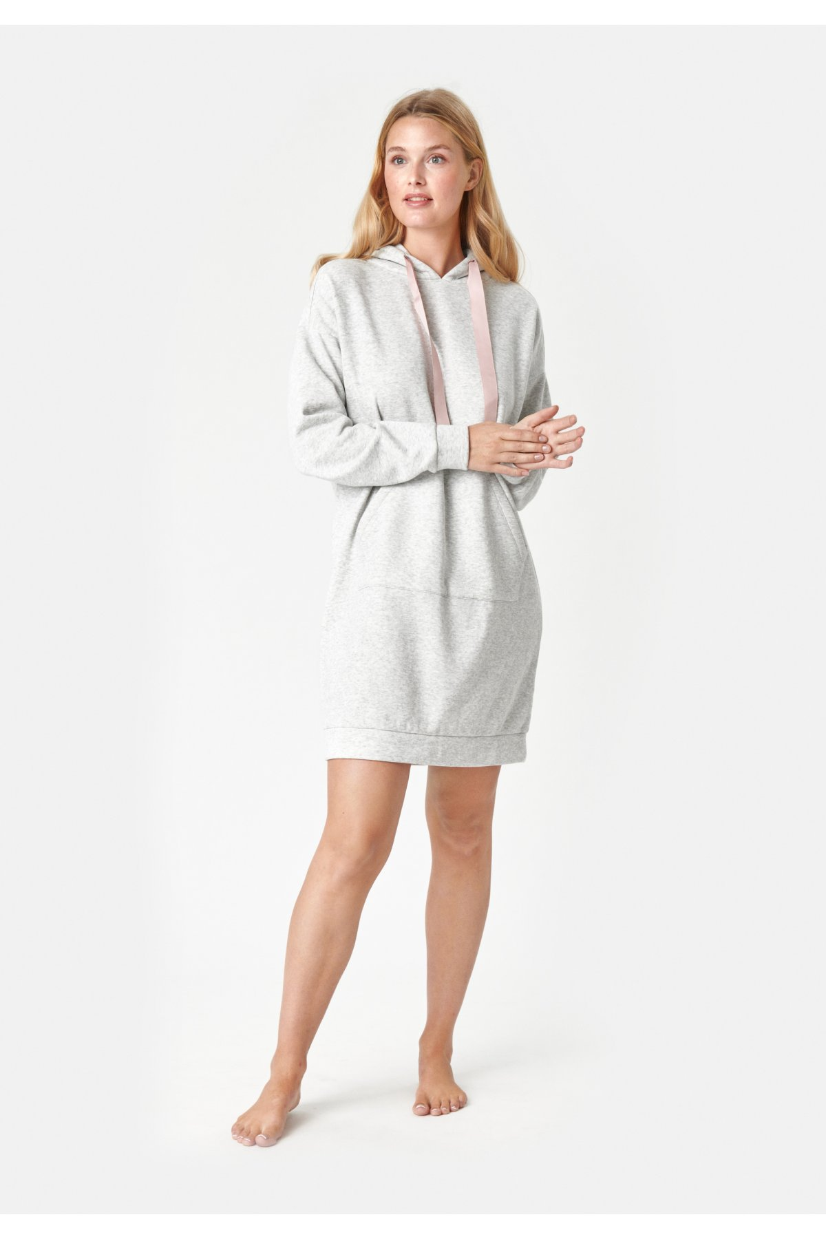 Mikinové šaty Alma s kapucí